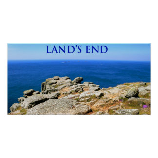 land's end cornwall england poster