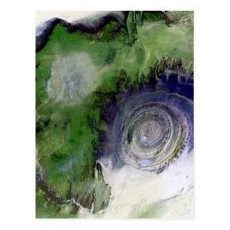 Landsat 7 Richat Structure Postcard