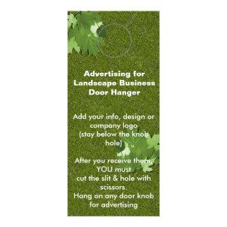 Landscape Advertising DOOR HANGER promotion tags Rack Cards