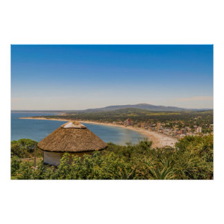 Landscape Aerial View Piriapolis Uruguay Poster