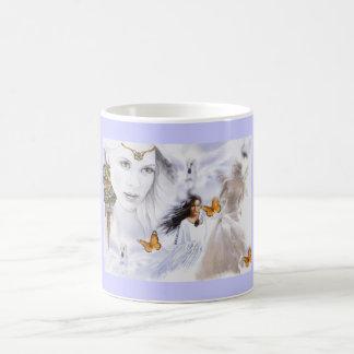 Landscape Amerindian Angel butterflies Coffee Mug