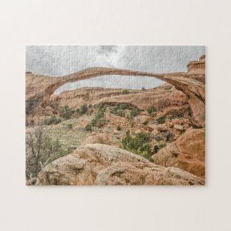 Landscape Arch Against a Cloudy Sky Jigsaw Puzzle
