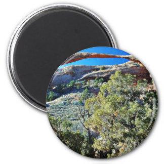Landscape Arch At Arches National Park Magnet