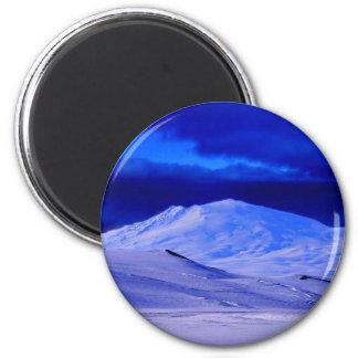 Landscape Arctic 6 Cm Round Magnet