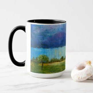 Landscape Art Painting House Rain Storm Clouds Mug