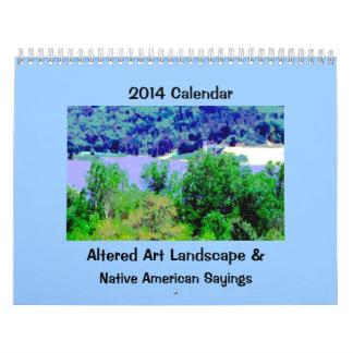Landscape Art with Native American Wisdom Calendars