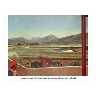 Landscape At Geneva By Jean-Etienne Liotard Postcard