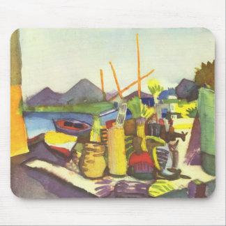 Landscape at Hammamet by August Macke Mousepad