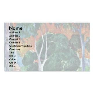 Landscape At La Dominique (Hiva Oa) By Gauguin Pau Pack Of Standard Business Cards