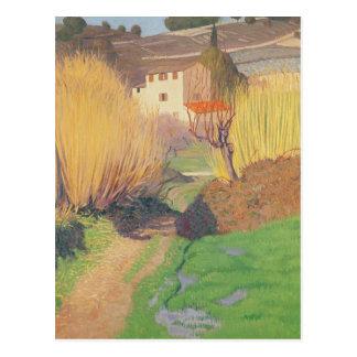 Landscape at Lagnes, 1921 Postcard