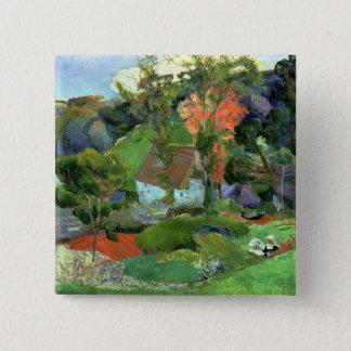 Landscape at Pont Aven, 1888 15 Cm Square Badge