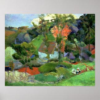 Landscape at Pont Aven 1888 Print