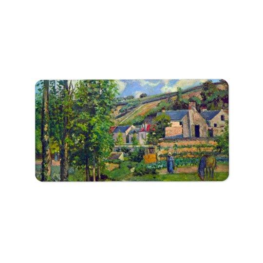 Landscape at Pontoise by Camille Pissarro Address Label