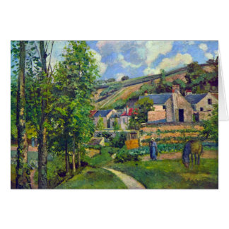 Landscape at Pontoise by Camille Pissarro Card