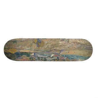 Landscape at Saint-Rémy ; Vincent Van Gogh 21.3 Cm Mini Skateboard Deck
