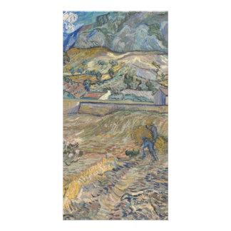 Landscape at Saint-Rémy ; Vincent Van Gogh Personalised Photo Card