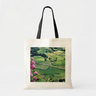 Landscape at Sao Miguel, Acores Islands  flowers Bag