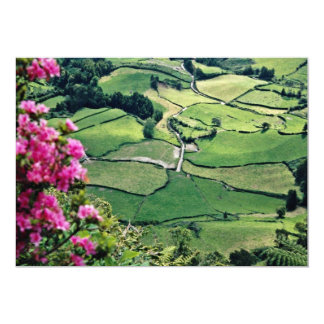 Landscape at Sao Miguel, Acores Islands  flowers Personalized Announcements