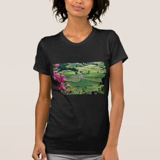 Landscape at Sao Miguel, Acores Islands  flowers Tshirts