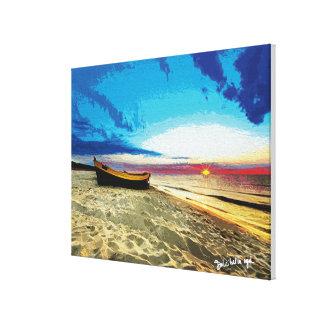 Landscape-boat Canvas Print