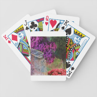 Landscape ,buganvillas  in full color bicycle playing cards