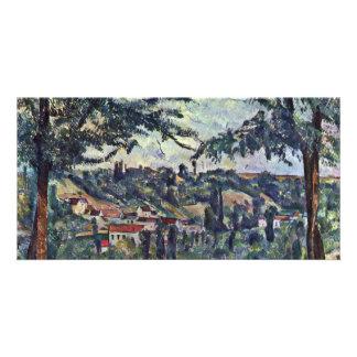 Landscape By Paul Cézanne (Best Quality) Custom Photo Card