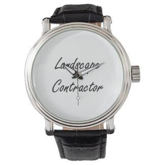 Landscape Contractor Artistic Job Design Wristwatch
