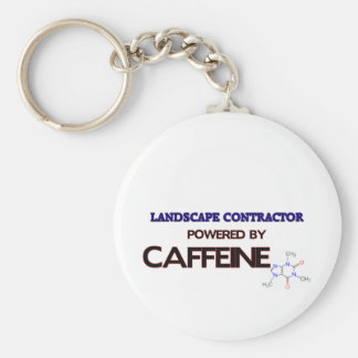 Landscape Contractor Powered by caffeine Keychain