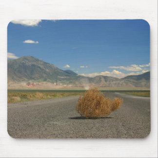Landscape Country Fields Mountain View+ Tumbleweed Mouse Pad