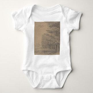 Landscape creation of Jesus Christ Baby Bodysuit