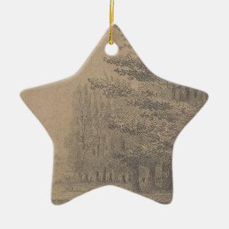 Landscape creation of Jesus Christ Ceramic Star Decoration
