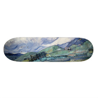 Landscape from Saint-Remy by Vincent Van Gogh Custom Skateboard