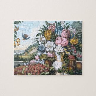 Landscape, Fruit and Flowers Jigsaw Puzzle