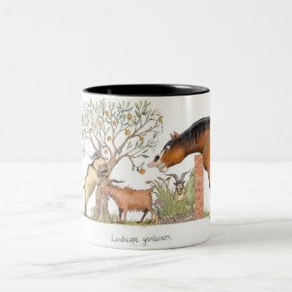 'Landscape gardeners' Mug. Two-Tone Coffee Mug