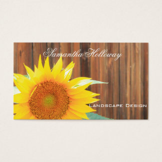 Landscape Gardening sunflower Business Cards