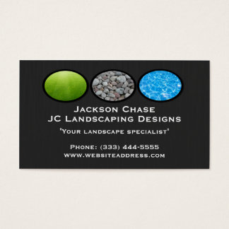 Landscape Grass Rocks Water Business Card