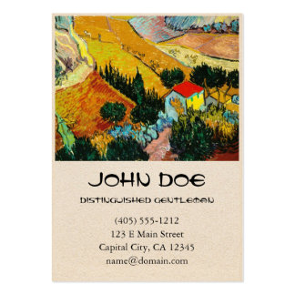 Landscape House and Ploughman  Vincent Van Gogh Pack Of Chubby Business Cards