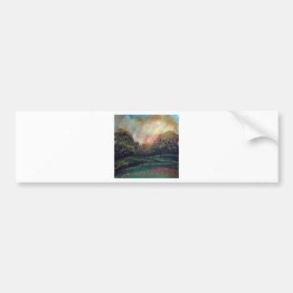 Landscape impressionism design bumper sticker
