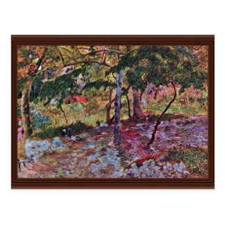Landscape In Martinique By Gauguin Paul Postcard