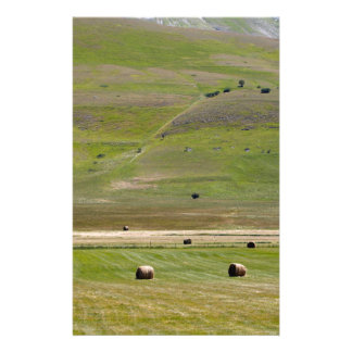 Landscape in the Sibillini Mountains in Italy Personalized Stationery