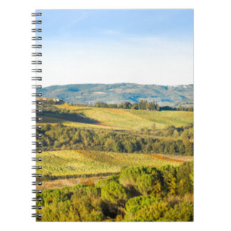 Landscape in Tuscany, Italy Notebook