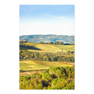 Landscape in Tuscany, Italy Stationery Design
