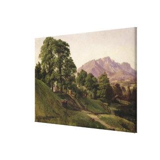 Landscape in Upper Bavaria, 1836 Canvas Print