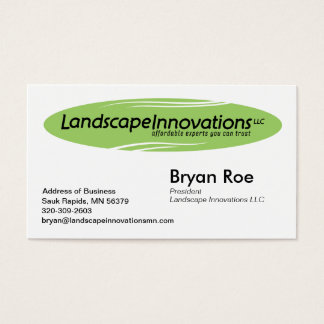 Landscape Innovations Business Card Template 2