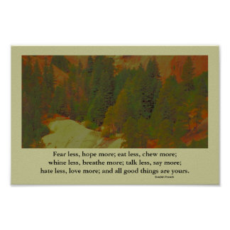 landscape inspiration and proverb poster