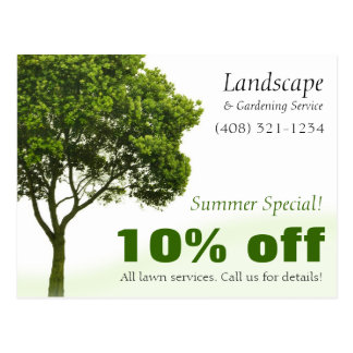 Landscape, Lawn, or Gardening Marketing Postcard