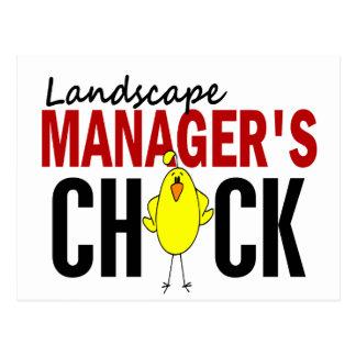 LANDSCAPE MANAGER'S CHICK POSTCARD