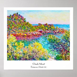 Landscape near Montecarlo, 1883 Claude Monet Poster