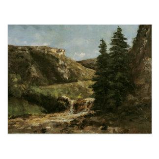 Landscape near Ornans, c.1858 Postcard