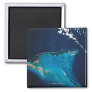 Landscape of Earth from Space 2 Square Magnet